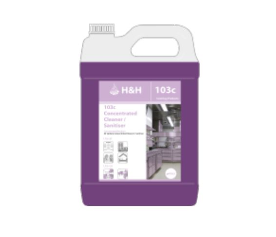 InnuScience H&H 103c Concentrated Cleaner & Sanitiser - 5 Litre Container