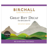 Birchall Decaf Great Rift Tea - 80 everyday tea bags