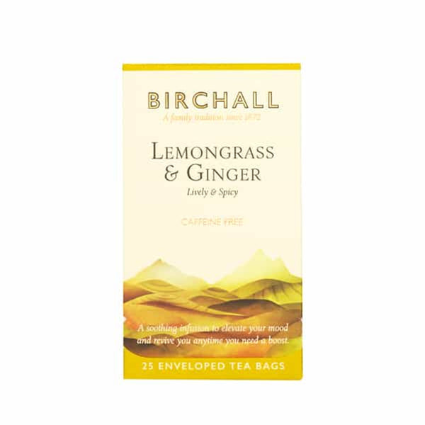 Birchall Lemongrass & Ginger Tea - 25 Enveloped Tea Bags