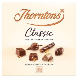 Thorntons Classic Milk / White / Dark Chocolate Box - 150g Box