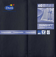 Dunisoft Napkins - Black - 40 x 40cm with 1/8 Fold - Pack of 60