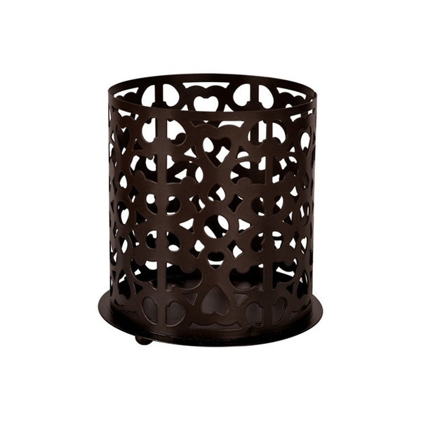 Duni Candle Holder - Dark Brown - 100 x 85mm