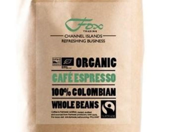 Cafe Espresso Fairtrade Organic Colombian Coffee Beans - 1Kg Bag