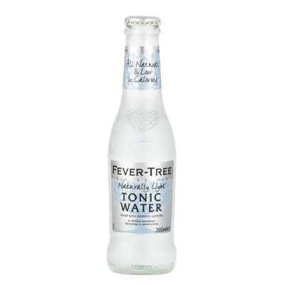 Fever Tree Refreshingly Light Indian Tonic Water - 20cl Glass Bottle - Pack of 24