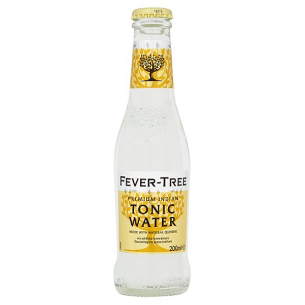 Fever Tree Premium Indian Tonic Water - 20cl Glass Bottle - Pack of 24