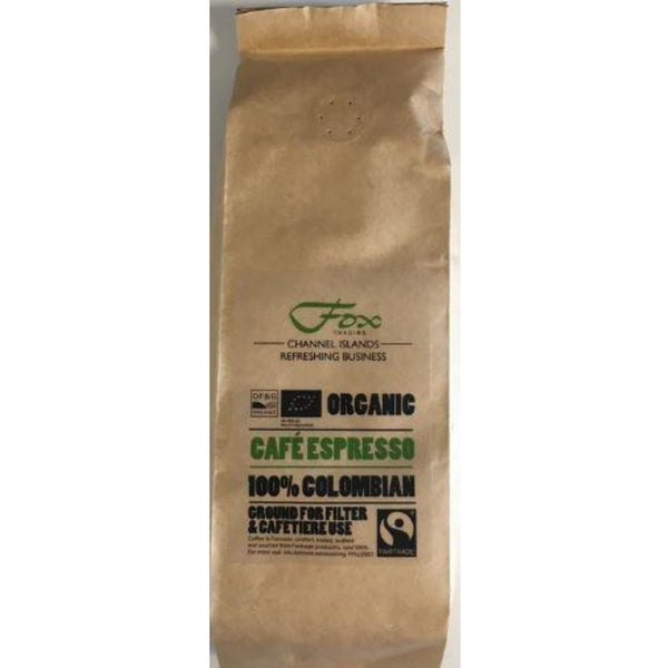 Cafe Espresso Fairtrade Organic Colombian Ground Filter Coffee - 250g bag