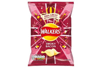 Walkers Smoky Bacon Crisps - 32.5g bag - Pack of 32