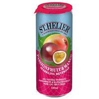 St Helier Sparkling Passion Fruit & Mango Beverage - 330ml Can - Pack of 24
