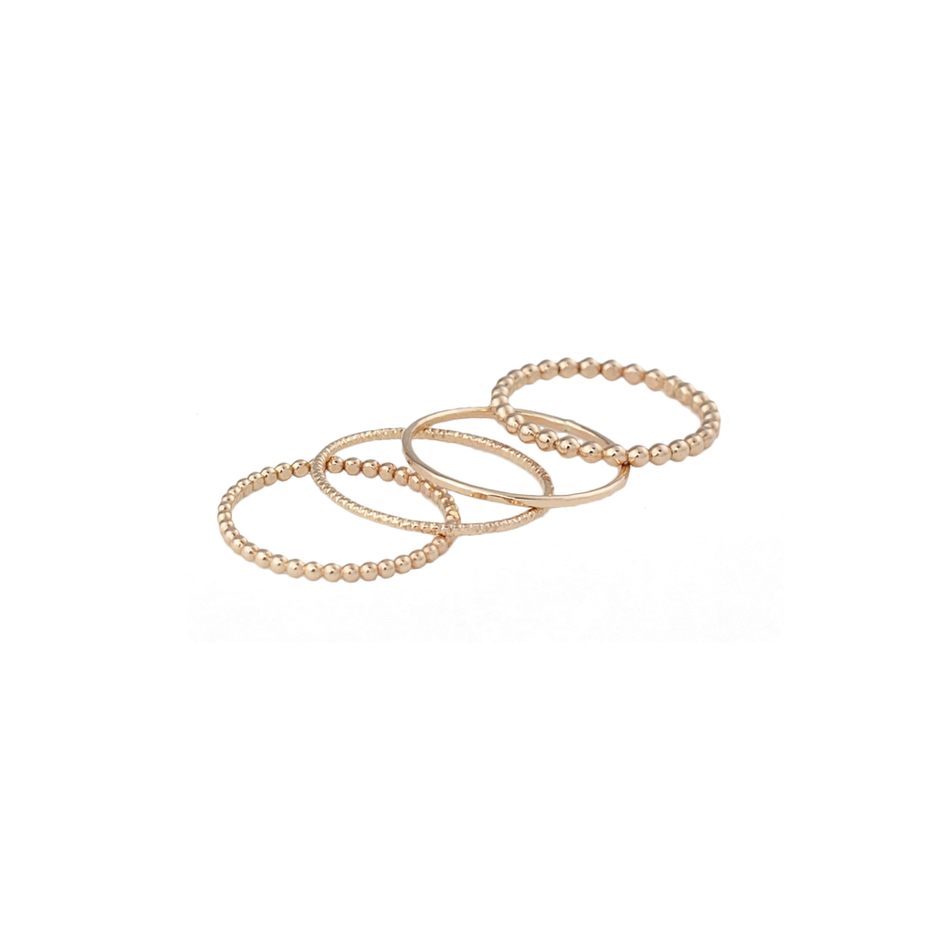 Gold fill stacker rings