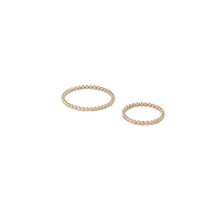 Gold fill beaded stackable rings