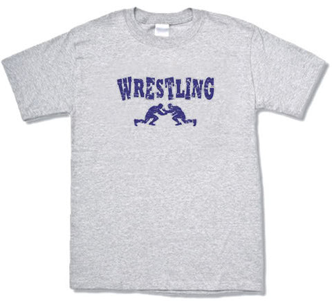 Wrestling design gray T-shirt