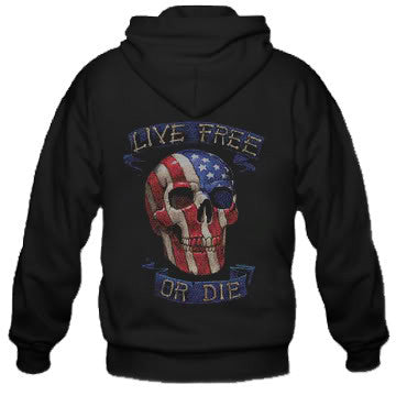 Live free or die design Hooded Sweatshirt