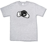 Camera design cartoon hands photographers T-shirt