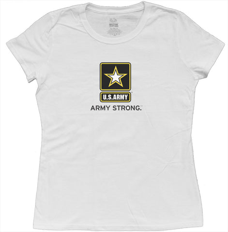 us army strong ladies t-shirt