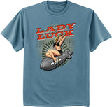 Lady Luck T-shirt pin up girl t-shirt