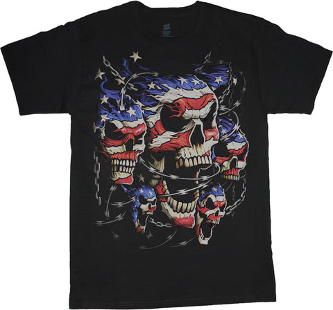 usa skulls big and tall t-shirts