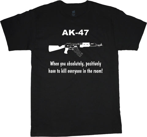 AK47 Funny Big and Tall T-shirt AK-47