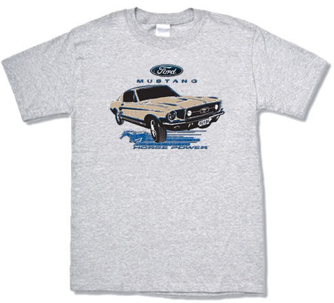 Ford Mustang horse power design mens T-shirt