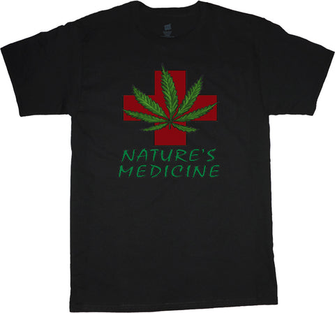 Big and Tall Medical Marijuana Shirt Nature's Medicine T-shirt