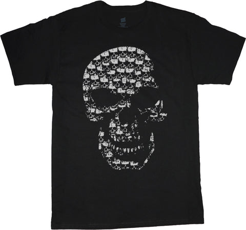 Big and Tall T-shirt Skull Made of Skulls