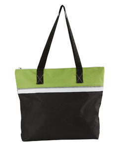 Polyester Zippered Tote Bag with Pen Loop