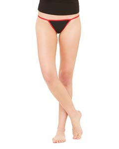 Bella + Canvas Ladies' cotton/spandex thong bikini panties