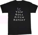 yaw roll pitch t-shirt