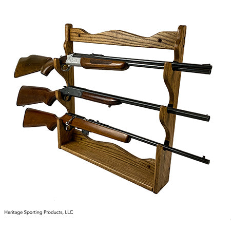 Oak Wall Gun Rack