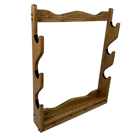 Tall Oak Wall Rack for 3 Guns
