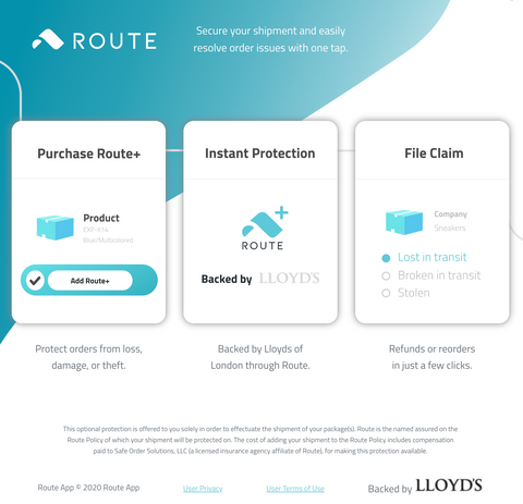 Route+ Shipping Insurance Information
