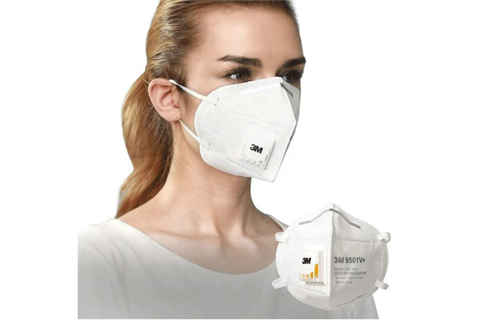 3M KN95 Face Mask 9501V+ Ear Straps With Valve