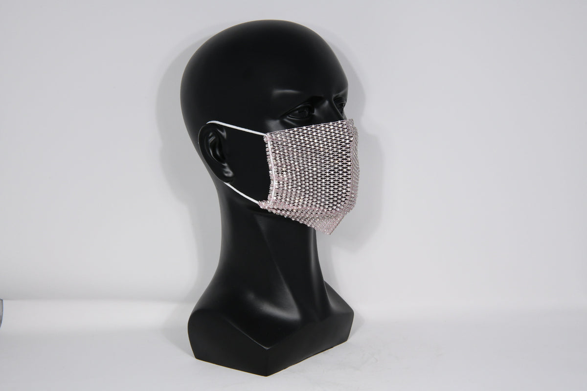 Rhinestone Crystal Face Covering