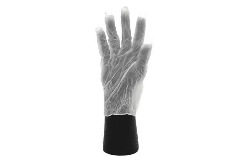 Clear Vinyl Gloves - Large