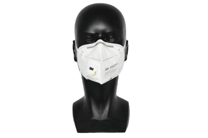 3M KN95 Face Mask 9502V+ Head Straps With Valve