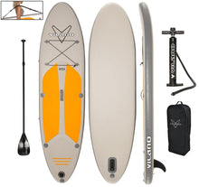 "Load image into Gallery viewer, Vilano Navigator 10' (6"" Thick) Inflatable SUP Stand Up Paddle Board Package"