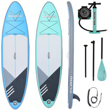 Load image into Gallery viewer, PathFinder Inflatable SUP Stand Up Paddle Board from Vilano, Complete KIT: Board, Fin, Pump, Paddle