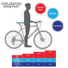 Load image into Gallery viewer, Vilano Diverse 3.0 Performance Hybrid Road Bike 24 Speed Disc Brakes