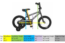 Load image into Gallery viewer, Vilano Boy's Bmx Style Bike, Kids 16""