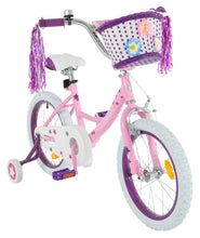 Load image into Gallery viewer, Vilano Girl's 14 Inch Bike with Training Wheels and Basket