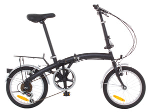 "APEX 16"" Folding Bike Shimano 6 Speed - Rack & Fenders"