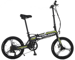 Vilano ATOM Electric Folding Bike, 20-Inch Mag Wheels