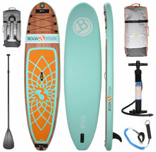 Load image into Gallery viewer, Boga Yoga Inflatable SUP Board Premium Fitness iSUP Board Bamboo