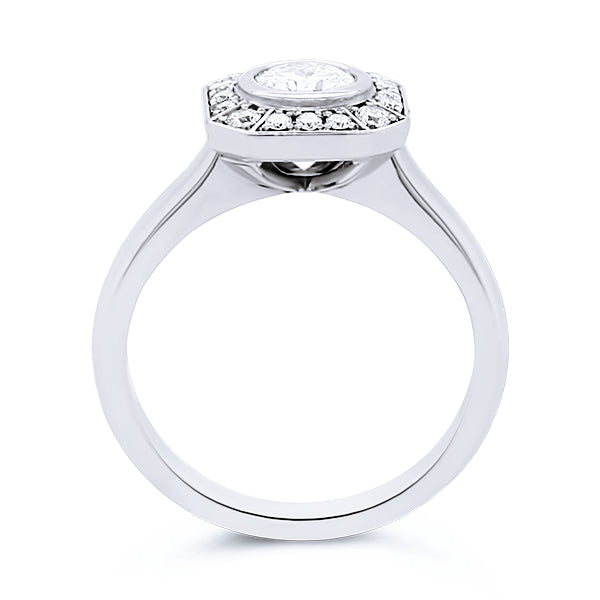 18ct 0.67ct Art Deco-Inspired Diamond Ring