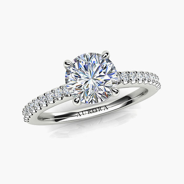 18ct 0.88ct Aurora®-Cut Diamond Accent Solitaire