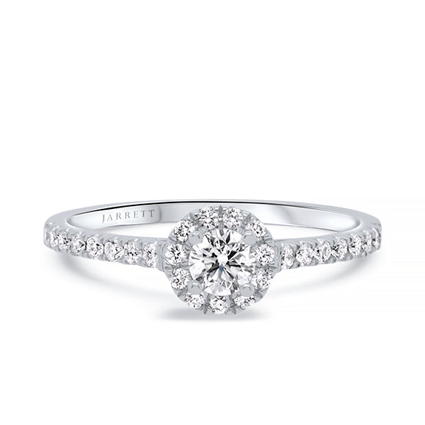 9ct Petite Diamond Halo Ring