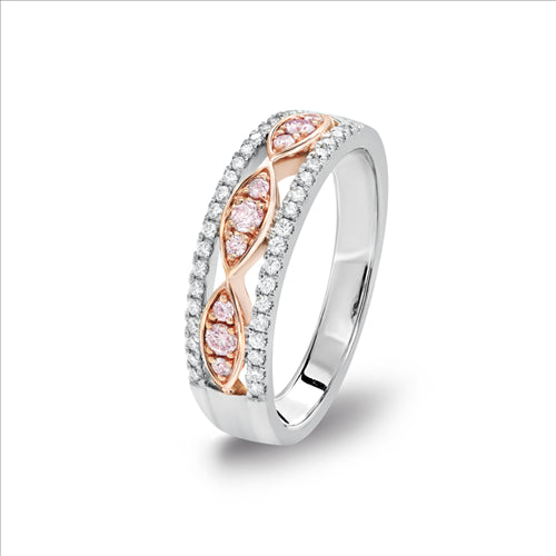 Blush Kaila Argyle Pink & White Diamond Ring