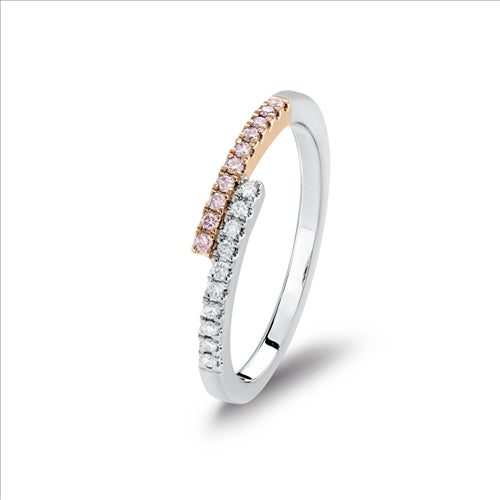 Blush Galia Argyle Pink & White Diamond Ring