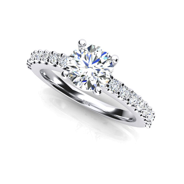 18ct 1.05ct Hand-Made Diamond Engagement Ring