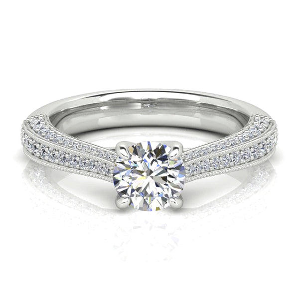 18ct Hand-Made Vintage-Inspired Diamond Engagement Ring