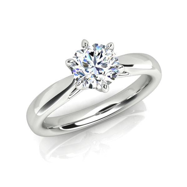 18ct Handmade 0.50ct Diamond Solitaire Ring